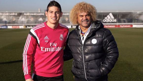 'Pibe' Valderrama visitó a James Rodríguez en el Real Madrid