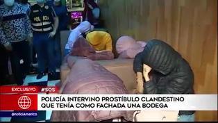 Centro de Lima: intervienen prostíbulo que tenía como fachada una bodega