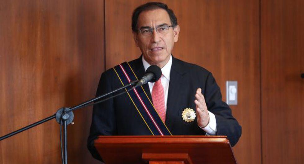 Martín Vizcarra dio un discurso en la Escuela Naval. (Foto: Presidencia)