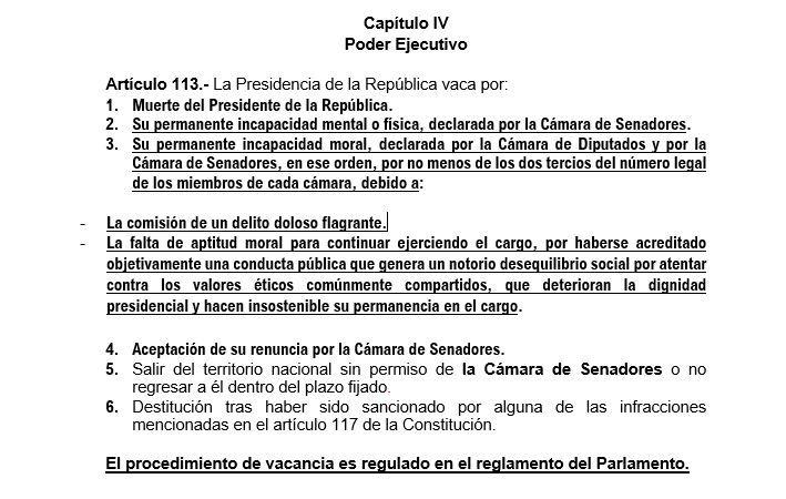 El texto que propone la Comisión de Constitución sobre bicameralidad.