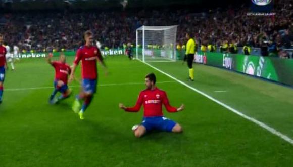 Real Madrid vs. CSKA Moscú: el 2-0 de los rusos que silenció el Santiago Bernabéu. (Foto: captura)