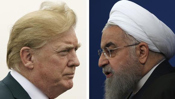 El presidente de Estados Unidos, Donald Trump, y su homólogo de Irán, Hassan Rohani. (AP).