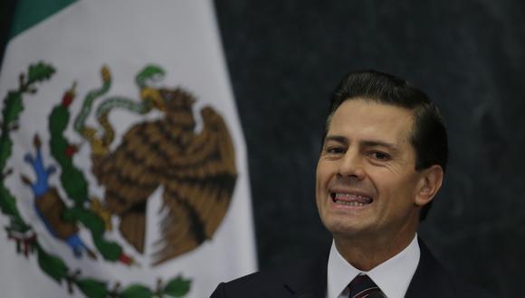 """El Gobierno de México tachó de """"falsas y difamatorias"""" las acusaciones de la defensa de El Chapo Guzmán de que Enrique Peña Nieto recibió sobornos del cártel de Sinaloa. (AP)"""