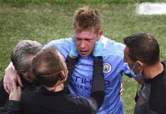 Kevin De Bruyne confirmó que sufrió una fractura durante la final de la Champions League