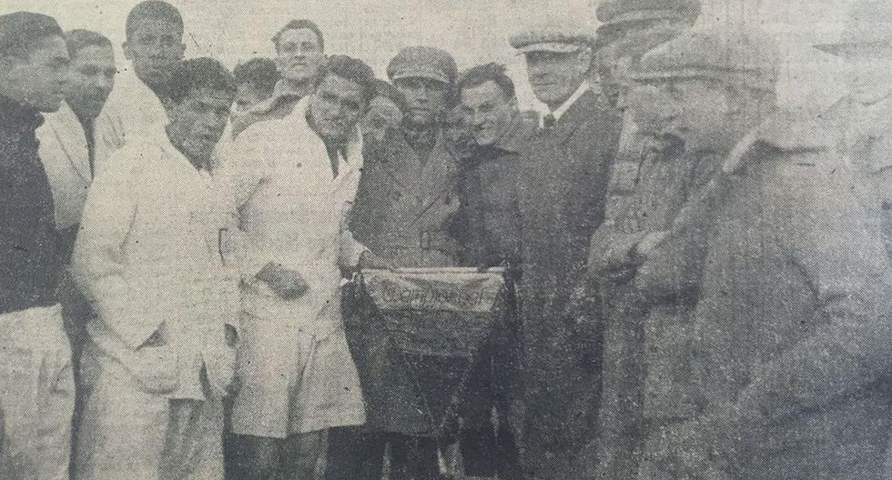 La selección peruana en la previa del debut contra Rumanía en el Mundial Uruguay 1930. (Foto: Archivo)