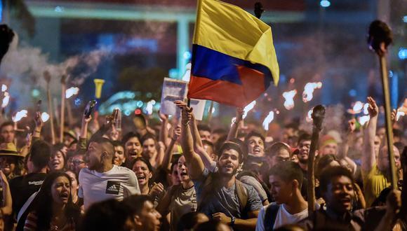 Protestas en Colombia provocan xenofobia contra migrantes venezolanos. (AFP / LUIS ROBAYO).