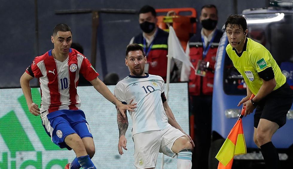 Argentina - Paraguay: Eliminatorias Qatar 2022. (Foto: AFP)