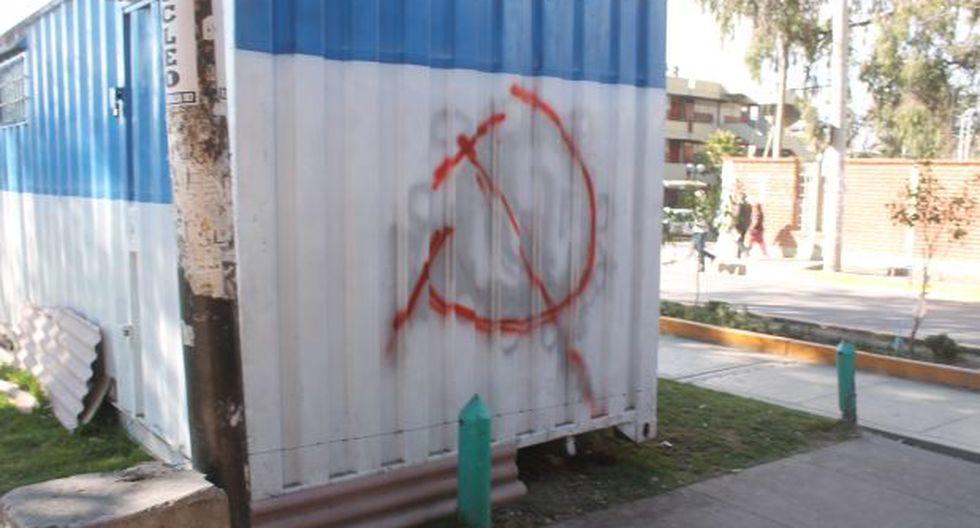 Aparecen pintas de Sendero a una cuadra de plaza de Huamanga - 1