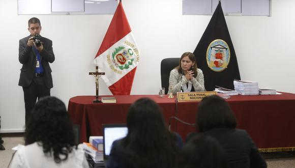 Juez Elizabeth Arias dirige audiencia por pedido de prisión preventiva. (Foto: Mario Zapata / El Comercio)
