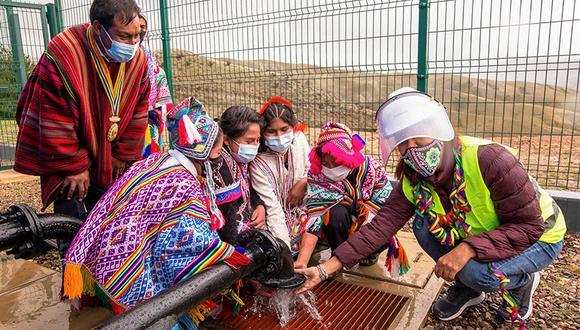 El proyecto más reciente: la empresa ha beneficiado con agua potable de calidad y un eficiente servicio de saneamiento a los más de 2.000 pobladores de Colquepata, Cusco.