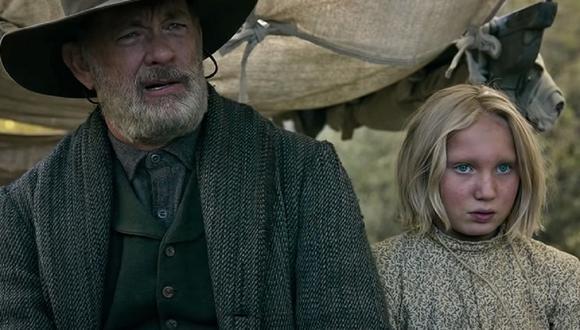 """Tom Hanks y Helena Zengel son los protagonistas de """"Noticias del gran mundo"""" (Foto: Netflix)"""