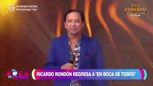 Ricardo Rondón regresó a 'En boca de todos' y aseguró no estar contagiado de la COVID-19