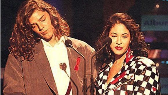 Ricky Martín y Selena en Premios Lo Nuestro. (Foto: captura de video de Premios Lo Nuestro)