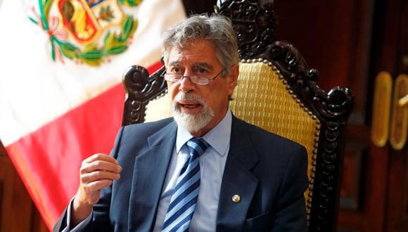 Presidente Francisco Sagasti reiteró su crítica a las reformas constitucionales.   (Foto Twitter@presidenciaperu)