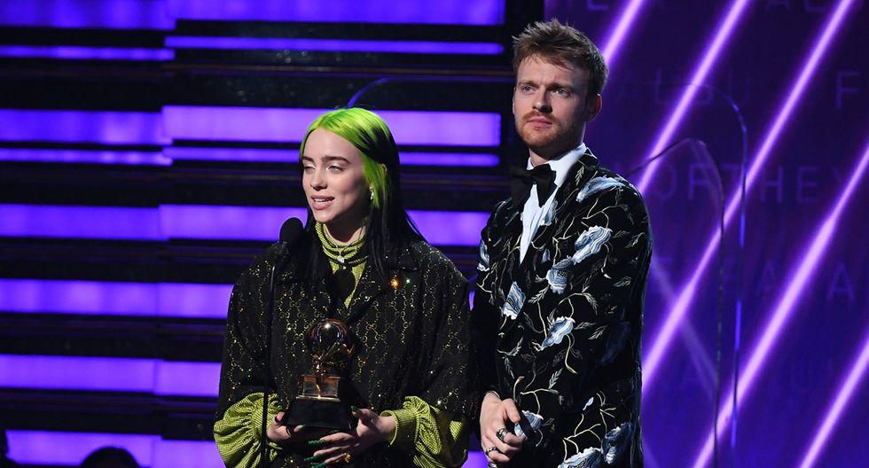 Billie Eilish se llevó el gramófono a Álbum del año por su primer disco de estudio. (Foto: AFP)