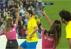 Kaká se tomó un selfie con la árbitro que lo acababa de amonestar