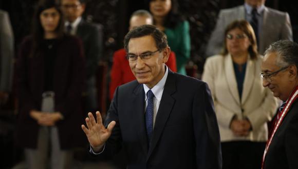 El presidente Martín Vizcarra dijo que enviarán los proyectos del Ejecutivo a los partidos políticos para que se pronuncien sobre ellos en campaña. (Foto: Renzo Salazar/ GEC)