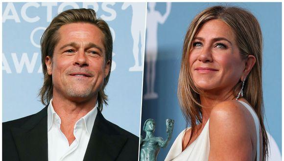 Brad Pitt y Jennifer Aniston decidieron dejar los problemas del pasado para pasar juntos la cuarentrena. (Fotos: AFP)