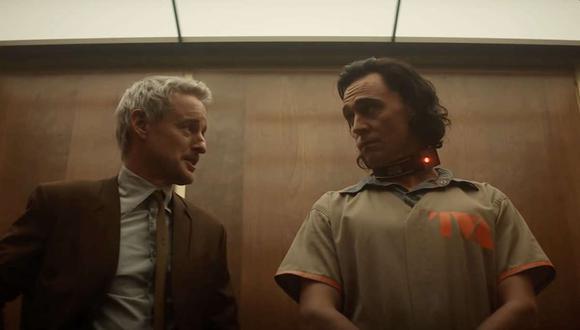 """Owen Wilson y Tom Hiddleston como Mobius M. Mobius y Loki en la serie """"Loki"""". (Foto Marvel Studios/Disney+)"""