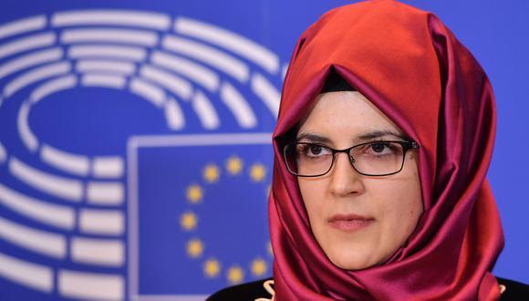 Hatice Cengiz, novia de Jamal Khashoggi, cree que solo la ONU puede investigar honestamente su asesinato. (AFP).
