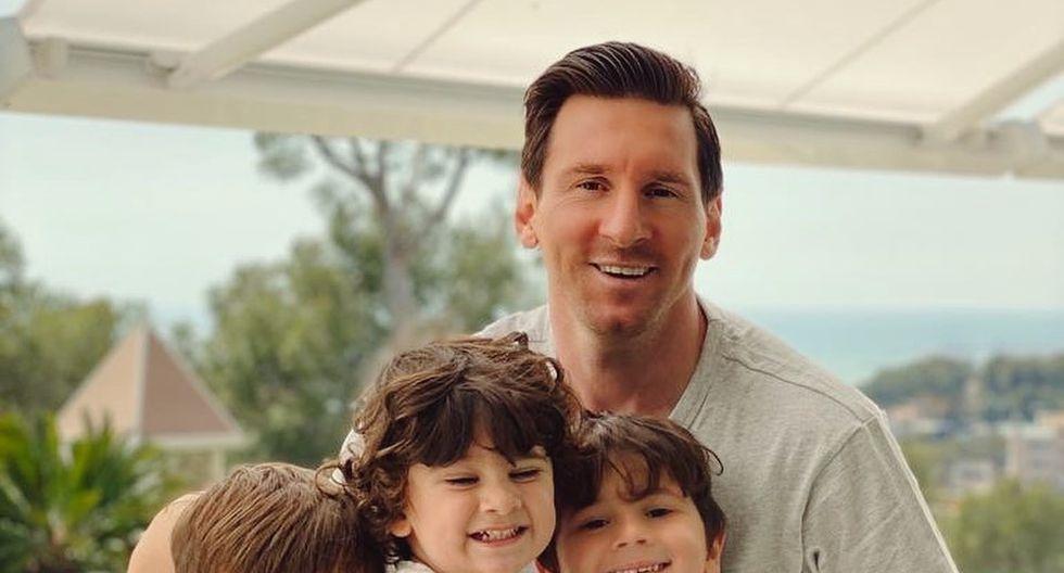 Messi se encuentra con sus hijos y esposa en cuarentena ante la pandemia del coronavirus. (Foto: Instagram)