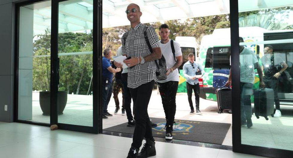 La llegada de Diego Tardelli a Granja Comary. (Foto: CBF)