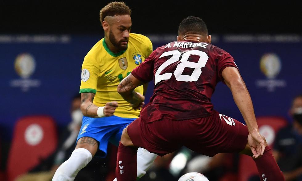Brasil vs. Venezuela disputaron la jornada 1 de la Copa América 2021 Foto: AFP