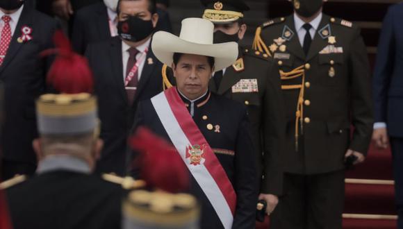 Pedro Castillo, docente rural de 51 años, juró el 28 de julio como nuevo presidente de la República para el período 2021-2026   Foto: Leandro Britto / @photo.gec