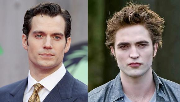 """Robert Pattinson saltó a la fama por interpretar al famoso vampiro en la saga """"Crepúsculo"""" (Foto: Getty Images/ Robert Pattinson y Henry Cavill)"""
