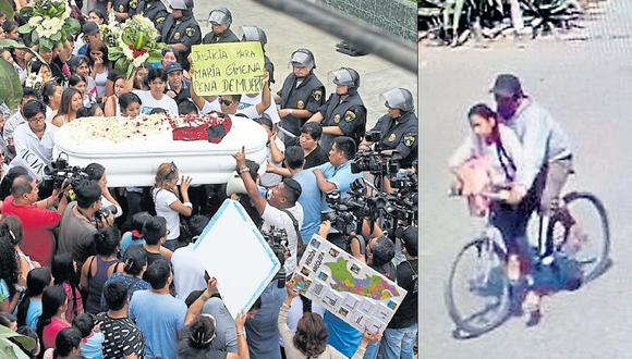 """""""¡Justicia!"""", """"Jimena, el pueblo está contigo"""", """"Policías corruptos"""", fueron las frases que los familiares de la niña asesinada gritaron ayer frente a la comisaría. (Foto USI/captura de video)"""