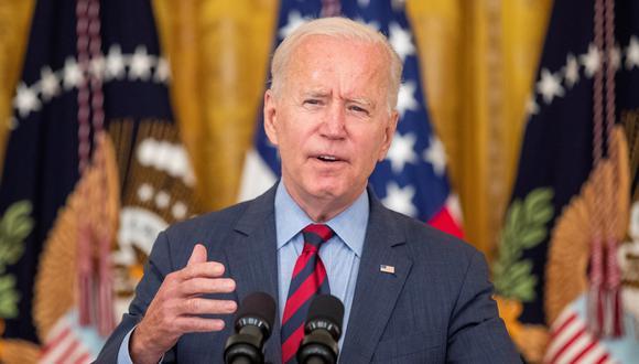 Joe Biden, presidente de Estados Unidos, en conferencia de prensa desde la Casa Blanca. (Foto: EFE)