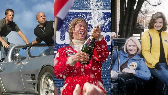 """""""Rápidos y furiosos"""", """"Rush"""" y """"The Gumball Rally"""" entre nuestro Top 10 de películas automovilísticas. (Fotos: Difusión)"""