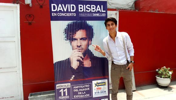 Daniel Lazo abrirá el concierto de David Bisbal en Lima