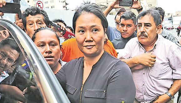 El Poder Judicial ha dejato al voto la apelación a la prisión preventiva presentada por Keiko Fujimori (Foto: Hugo Curotto)