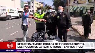Policía recupera moto robada de joven atleta