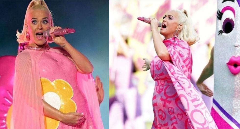 Katy Perry lució su embarazo en un concierto en Australia con motivo de la final de la Copa Mundial de Cricket Femenino en Melbourne. Recorre la galería para conocer sus looks. (Foto: @usweekly)