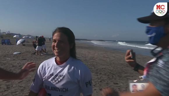 Sofía Mulanovich quedó en tercer lugar y pasa a la tercera ronda en Tokio 2020. (Foto: Captura de pantalla Marca Claro)
