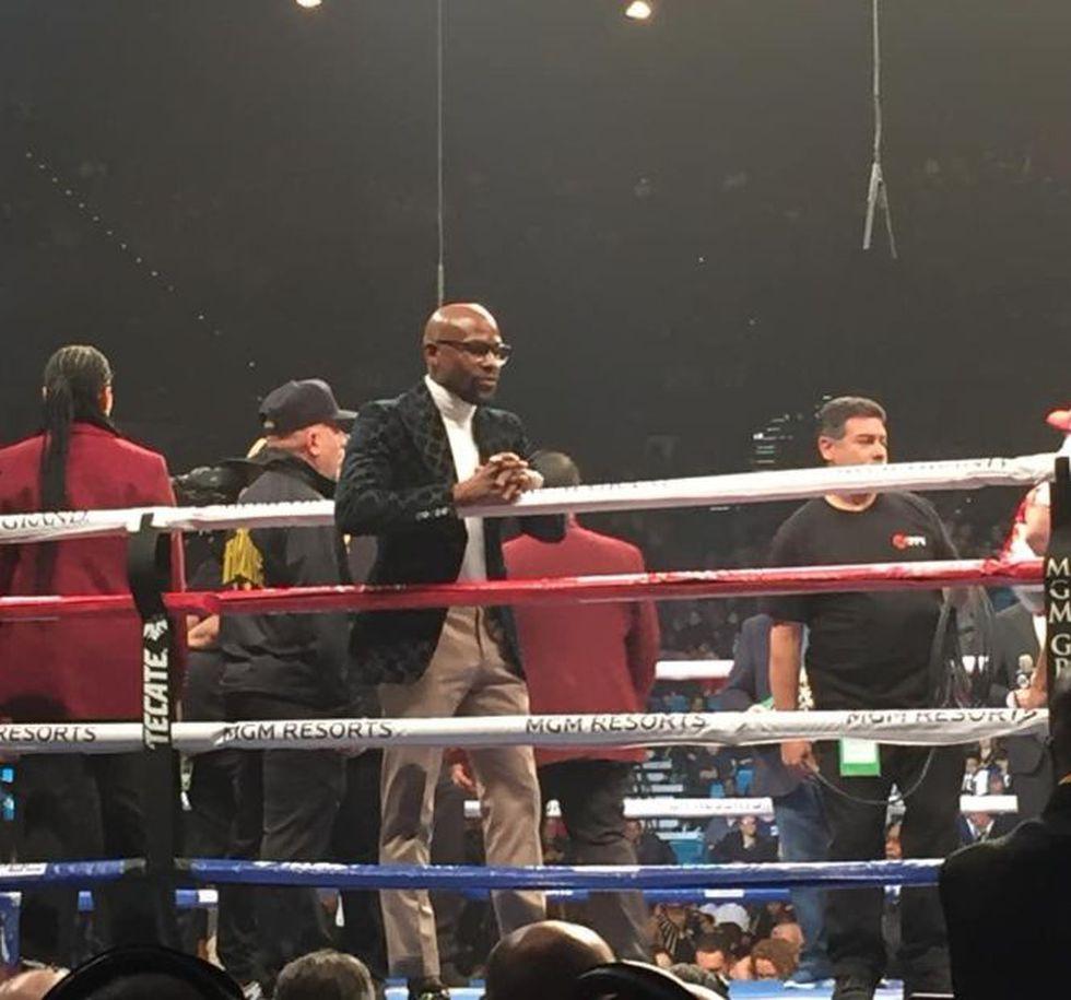 Manny Pacquiao vs. Adrien Broner EN VIVO: ¿Floyd Mayweather Jr. fue a ver la pelea en Las Vegas? (Foto: ESPN)