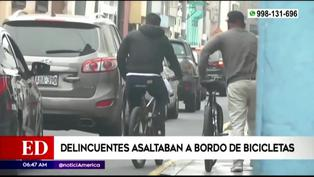 Capturan a delincuentes que asaltaban a bordo de bicicletas