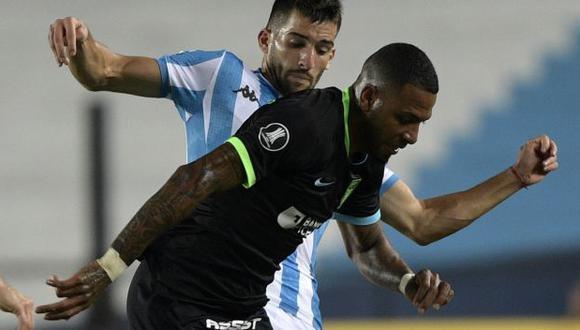 Alexi Gómez y Johan Arango, protagonistas de los 10 mejores lujos de la Copa Libertadores. (Foto: AFP)