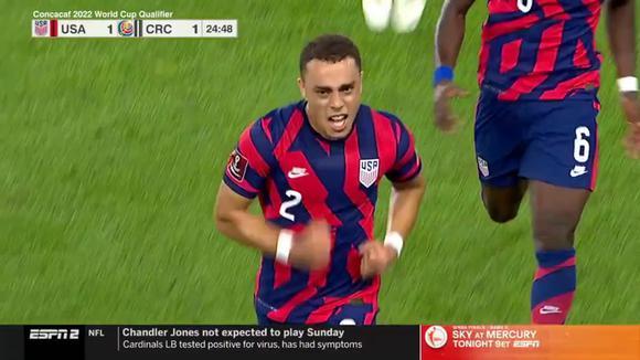 Estados Unidos 1-1 Costa Rica: gol de Sergiño Dest. (Video: Twitter U.S. Soccer MNT @USMNT)