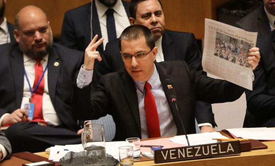 El ministro de Relaciones Exteriores de Venezuela, Jorge Alberto Arreaza, acusó a Colombia de organizar una agresión contra su país.