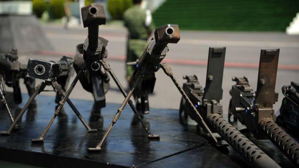 Cada año ingresan ilegalmente a México más de 200.000 armas.  Foto: AFP