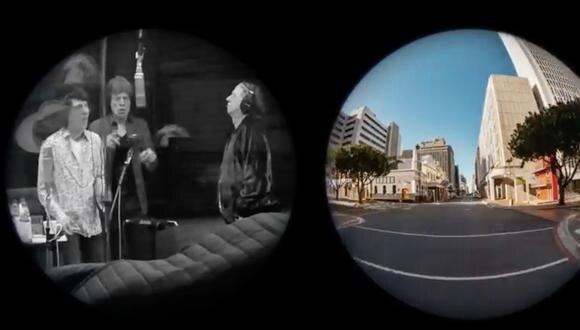"""Captura del video oficial de la canción """"Living in a ghost town"""""""