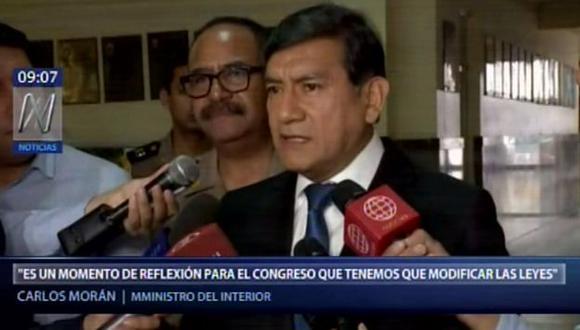 Ministro del Interior revela que 19 policías fueron asesinados durante el 2018. (Captura: Canal N)
