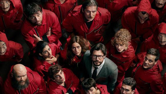 """El elenco de """"La casa de papel"""", que lanza su cuarta temporada este 2020. Una quinta temporada está confirmada. Foto: Netflix."""