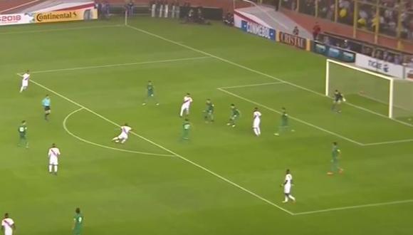 Perú vs. Bolivia: no te pierdas el golazo de zurda de Edison Flores [Foto: Captura]