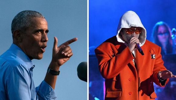 Barack Obama compartió una canción de Bad Bunny en sus temas favoritos del 2020. (Foto: Alex Edelman / Valerie Macon / AFP)