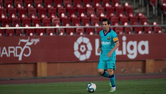 Lionel Messi anotó dos goles en los dos partidos del Barcelona en el regreso de LaLiga Santander. (Foto: AFP)