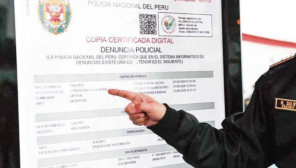 El servicio de denuncia digital es gratuito y para su acceso a la plataforma debe ingresar con su número de DNI. (Foto: Andina)